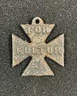 "WW1 British Bombardment of East Coast Propaganda ""For Kultur"" Iron Cross Medal"