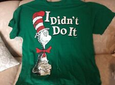 Dr. Seuss Cat in the Hat T shirt top I didn't do it Christmas Hybrid Apparel Xxl