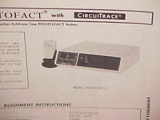 1975 Unimetrics Cb Radio Service Shop Manual Model Porpoise-I