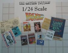 Back to the Future 1/24 or 1/25 scale Magazines and Documents - Large Assortment