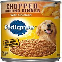 Pedigree Chopped Ground Dinner Wet Dog Food, Chicken,13.2 oz. Cans