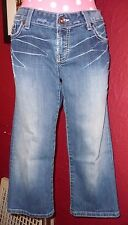 Blue Denim BKE DENIM Stella Stretch Cropped Jeans Sz 29 Low Rise Emboidered