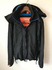 SUPERDRY WINDCHEATER JACKET/COAT! MENS M/L! BLACK HARRINGTON! 42-44 CHEST!