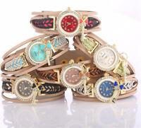 Fashion Women's Bracelet Watches Ladies Casual Round Quartz Analog Wristwatch