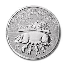 2 Libra Esterlina Plata/Plata Reino Unido Lunar Año Del Cerdo Pig 2019 1 Onza