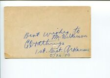 Ezekiel Gathings AR Arkansas US Representative Congress Signed Autograph