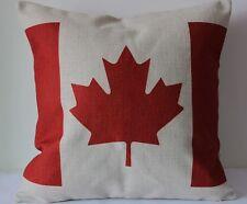 Vintage Canada Flag Cotton Linen Throw Pillow Cushion Cover For Home Decor H100