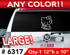 """HELLO KITTY ANGEL VINYL DECAL STICKER 12""""h x10""""w #6317"""