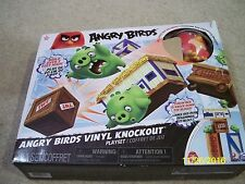 BRAND NEW! ANGRY BIRDS VINYL KNOCKOUT PLAYSET!