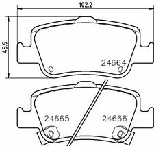 MINTEX MDB2924 BRAKE PAD SET DISC BRAKE Rear