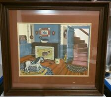 The Keeping Room BY PAT PEARSON SIGNED WOOD FRAMED PRINT PRIMITIVE COTTAGE 1983