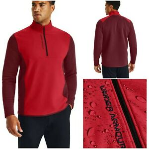 NWT $90 UNDER ARMOUR Storm Evolution Daytona Men 1/2 Zip Golf Pullover Red Sz XL