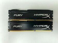 KINGSTON HYPER X FURY 8GB (2 x 4GB) 1600 MHz DDR3 MEMORY RAM hx316c10fbk2/8