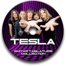 TESLA HARD METAL ROCK GUITAR TAB TABLATURE SONG BOOK SOFTWARE CD