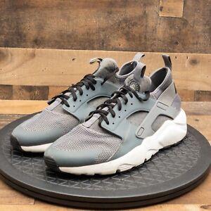 Nike Air Huarache Run Ultra Mens Athletic Shoes Cross Training Gray White Sz 12