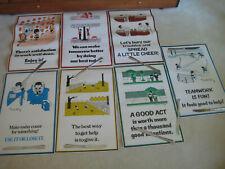 1976 Ted Key, 7 Positive Attitude Motivation Posters, Vintage Classroom, Hockey
