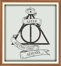 Harry Potter deathly Hallows Cross Stitch Chart 12.0 x 11.1 inches.CHART ONLY