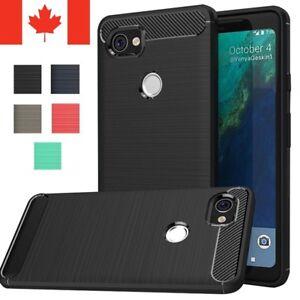 For Google Pixel 2 / XL Case - Carbon Fiber Protective Shockproof Soft TPU Cover