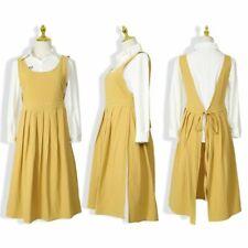 Cotton Linen Kitchen Aprons For Woman Uniform Lady Dress Cooking Baking Ruffles