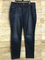 Old Navy Original Mid Rise Jeans Size 6 Petite Dark Wash Straight Womens