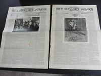 July, 1909 The Youth's Companion Vol. 83 No 29/30-Set of (2) Newspapers. RARE!