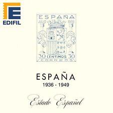 EDIFIL.Juego de  Hojas Estado Español. 1936 al 1949. Con Estuches TRANSPARENTES