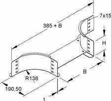Niedax Anbau-T RTAS 110.200 Kabelrinnen Stahl Anbau-T