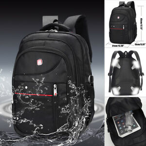 Men Nylon Backpack Waterproof Laptop School Bag Satchel Travel Handbag  K