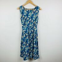 Seasalt Cornwell Womens Dress Size 10 Floral With Belt Gorgeous Design