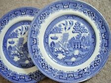 Alfred meakin England porcelain plate,OLD Willow,set of 2