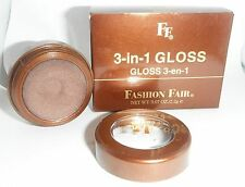 Fashion Fair 3 in 1 Gloss Bombshell for Lips Eyes Cheeks Nib