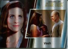 Star Trek Women Of 50th Metal Parallel Base Card #60 Vash and Jean-Luc Picard