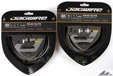 Jagwire Road Elite Complete Sealed Bike Shift / Brake Cable Kit - FROZEN BLACK