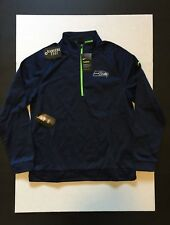 Nike Seattle Seahawks Lightweight Half-Zip Therma Pullover Jacket Mens Size XL
