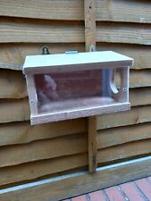 SQUIRREL FEEDER WOOD clear viewHANDMADE with canadian red cedar timber free p/p
