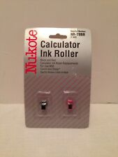 Nukote Calculator Ink Rollers Black & Red Replacements NR-78BR Canon Sharp