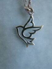 925 Sterling Silver Peace Dove Charm, Christmas, Love, Birds, Boxed, New!