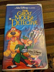 """The Great Mouse Detective"" VHS (1360) Walt Disney Black Diamond Clamshell 1992"