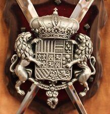 Mittelalterliches Wappenschild mit Schwertern, Dekoration, Ritter, Rüstung, NEU