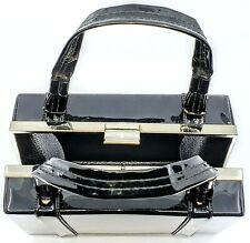 Cute Makeup Carry Case with Handles Black Makeup/Vanity Travel/Overnight Bag