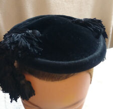 "Vintage Saks Fifth Avenue ""debutante""  Flapper Matador Fascinator Style Hat"