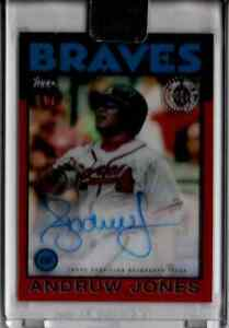 2021 Topps Clearly Authentic Andruw Jones Red Parallel Autograph Card #01/50