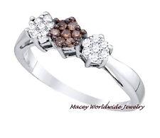 Brandy Diamond® Chocolate Brown 10K White Gold Beautiful Flower Ring .25Ct