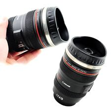 hot sale 24-105 Stainless Lens Camera Travel Coffee Tea Mug Cup lens lid