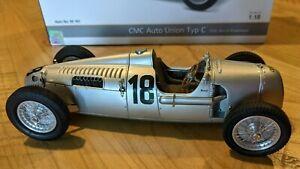 CMC Auto Union Type C 1936 #18 B. Rosemeyer Eifel Race  1/18 Diecast CMC161
