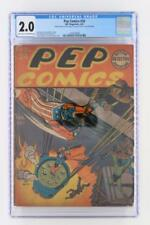 Pep Comics #24 - CGC 2.0 GD - MLJ 1942 - 3rd App of Archie - Bondage cover!!!