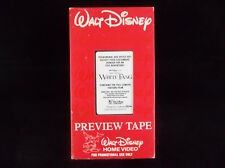 Walt Disney Home Video Jack London's White Fang Rare Promotional Demo VHS