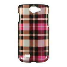 For Samsung Exhibit 2 II 4G T679 HARD Case Snap on Phone Cover Hot Pink Checker