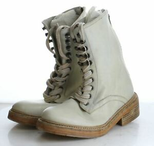 40-60 NEW  $178 Women's Size 38EU Free People Santa Fe Leather Combat Boot