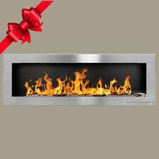 BIO ETHANOL FIREPLACE *Emotion* INOX EXTRA LARGE WALL FIRE BURNER 1200x400